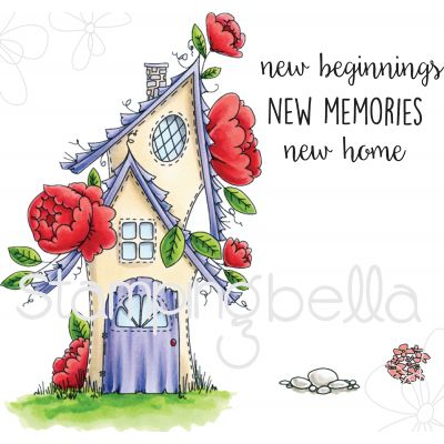 Stamping Bella Cling Stamps Fairy Garden House - EB530