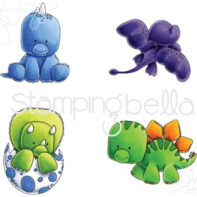 Stamping Bella Cling Stamps Dinosaurs - EB532