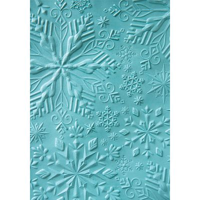 Sizzix Textured Impressions Embossing Folder Katelyn Lizardi Winter Snowflakes - 662287