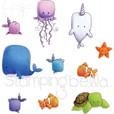 Stamping Bella Cling Stamps Under The Sea - EB535