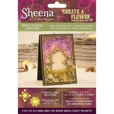 Sheena Douglass Create A Flower Metal Die Set Sensational Centres - SDMDCAFS