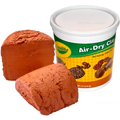 Crayola Air Dry Clay 5Lb Terra Cotta - 57-2004