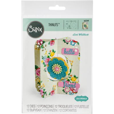 Sizzix Thinlits Dies By Lori Whitlock 12/Pkg Card, Flower - 662349