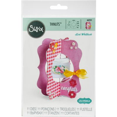 Sizzix Thinlits Dies By Lori Whitlock 11/Pkg Card, Jar - 662351