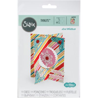 Sizzix Thinlits Dies By Lori Whitlock 11/Pkg Card, Snowflake - 662352