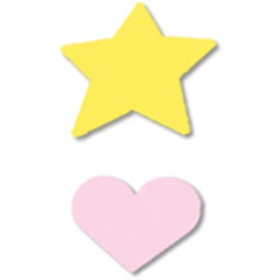 Mini Punches 2/Pkg Heart & Star, .625
