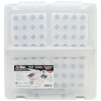 Artbin Super Satchel W/Glitter Glue Trays 15