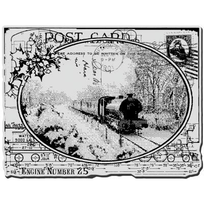 Stampendous Cling Stamp Train Postcard - CRR187
