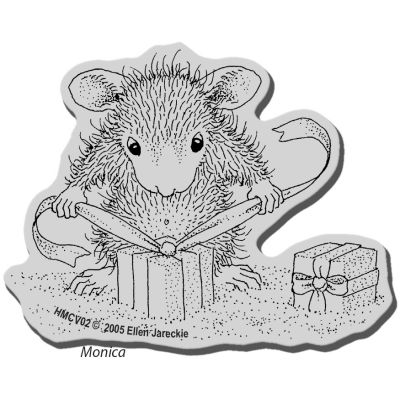 Stampendous House Mouse Cling Stamp Gifts To Tie - HMCV02
