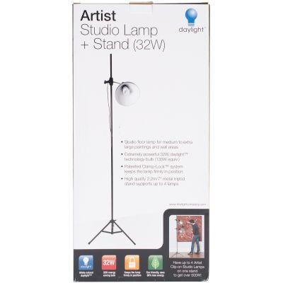Daylight Artist Studio Lamp & Stand Silver & Black Fob: Mi - U31375