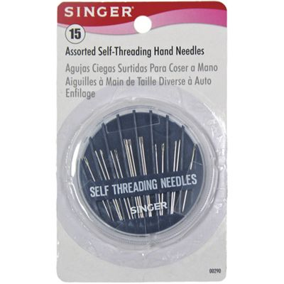 Singer Self Threading Hand Needle Compact Assorted 15/Pkg - 290