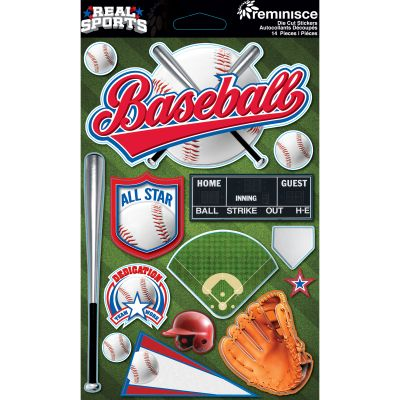 Real Sports Dimensional Cardstock Stickers 6