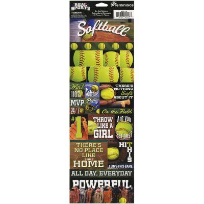 Real Sports Die Cut Cardstock Stickers 4.25