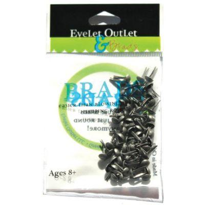 Eyelet Outlet Round Brads 4Mm 70/Pkg Brushed Silver - BRD4MM-40B