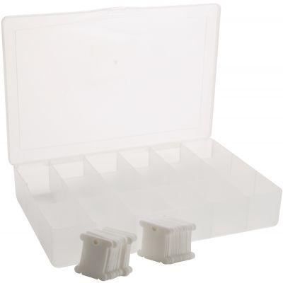 Darice Deep Floss Caddy 17 Compartments W/50 Bobbins 10.25