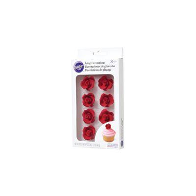 Icing Roses 8/Pkg Medium Red - W101491