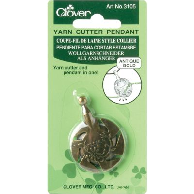 Clover Yarn Cutter Pendant Antique Gold - 3105