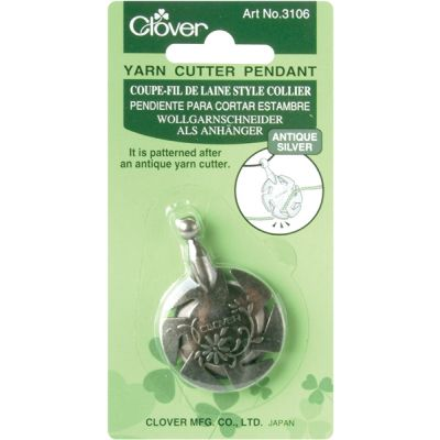 Clover Yarn Cutter Pendant Antique Silver - 3106