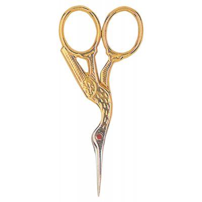 Tool Tron Red Ruby Swarovski Crystal Stork Scissors 3.5