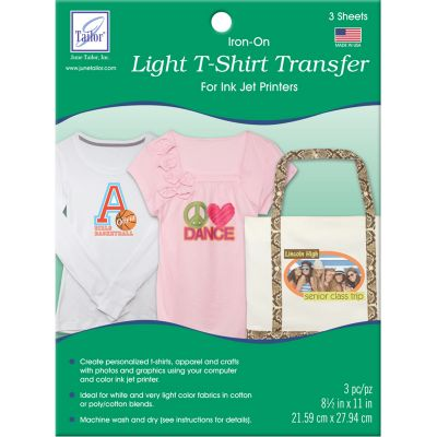 June Tailor Iron On Ink Jet Transfer Sheets 8.5