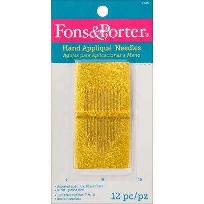 Fons & Porter Hand Applique Needles 12/Pkg Size 7, 9 & 10 - 7745