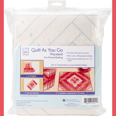 June Tailor Quilt As You Go Placemat 6/Pkg Casablanca - JT1412