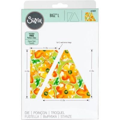 Sizzix Bigz Dies Fabi Edition L Die  Triangles Isosceles & Right 4.5
