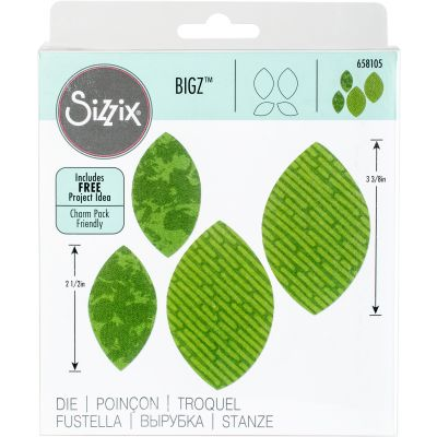 Sizzix Bigz Dies Fabi Edition Leaves, Plain #2 By Rachael Bright - 658105