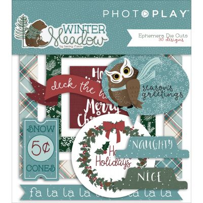 Winter Meadow Ephemera Cardstock Die Cuts  - WW2948