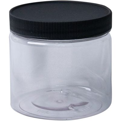Jacquard Empty Wide Mouth Plastic Jar 16Oz Clear - ACC1797