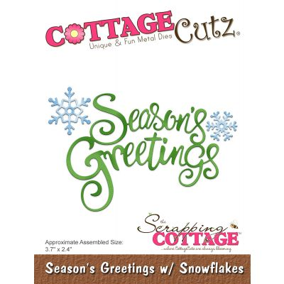 Cottagecutz Die Season'S Greetings W/Snowflakes 3.7