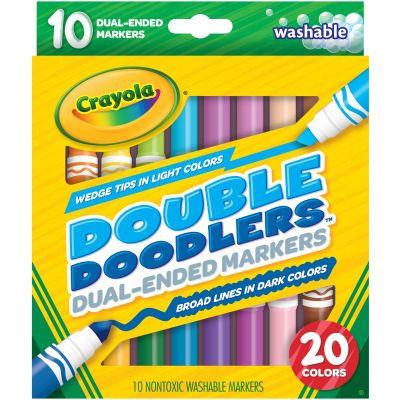 Crayola Dual Ended Washable Double Doodlers Markers Assorted Colors 10/Pkg - 58-8310