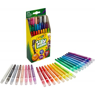 Crayola Silly Scents Twistables Mini Crayons 24/Pkg - 52-9624