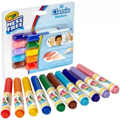 Crayola Color Wonder Mini Markers 10/Pkg Classic - 75-2471