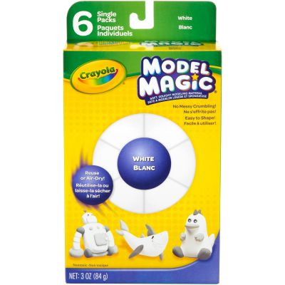 Crayola Model Magic .5Oz 6/Pkg White - 23-2405