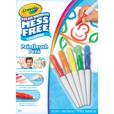 Crayola Color Wonder Mess Free Paintbrush Pens  - 75-2023