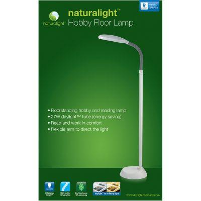 Daylight Naturalight Hobby Floor Lamp White Fob: Mi - UN1072