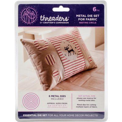Crafter'S Companion Threaders Metal Fabric Nesting Dies 6Pkg Circle - THMD11