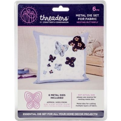 Crafter'S Companion Threaders Metal Fabric Nesting Dies 6Pkg Butterfly - TH1121