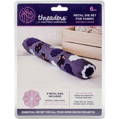 Crafter'S Companion Threaders Metal Fabric Nesting Dies 6Pkg Flower - TH1119