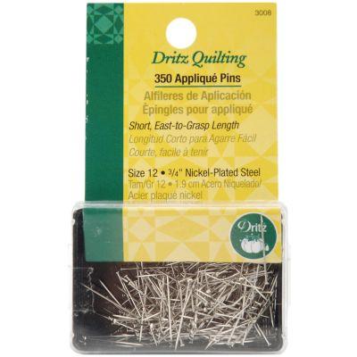 Dritz Quilting Applique Pins 350/Pkg Size 12 - 3008
