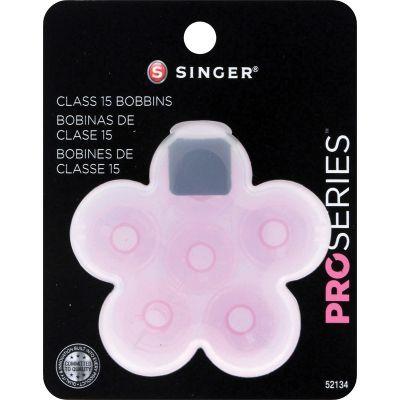Singer Pro Series Class 15 Transparent Bobbins In Plastic Ca 6/Pkg - 52134