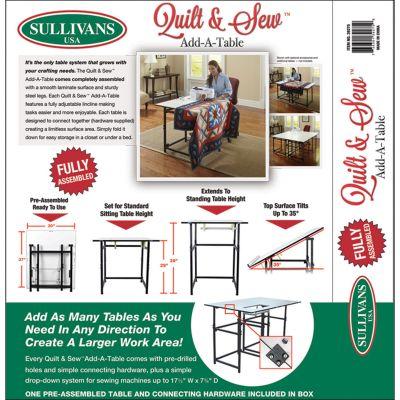 Sullivan'S Quilt & Sew Add A Table White Fob: Mi - 39275