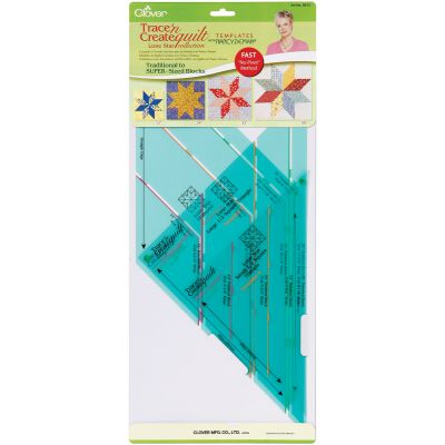 Clover Trace 'N Create Quilt Templates By Nancy Zieman Lone Star Collection - 9513
