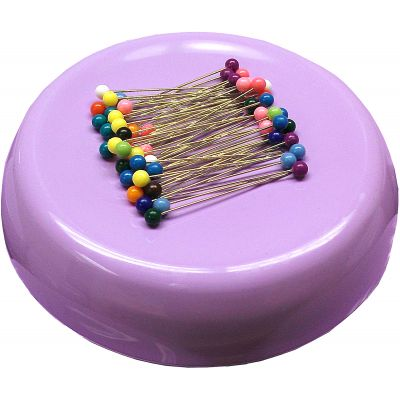 Grabbit Magnetic Pincushion W/50 Pins-Lavender