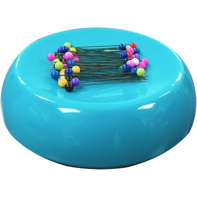 Grabbit Magnetic Pincushion W/50 Pins-Teal