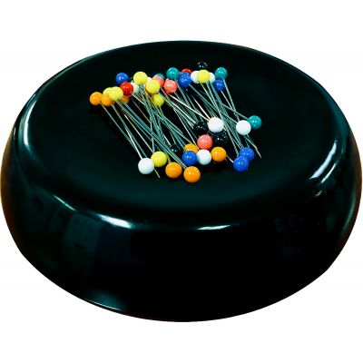 Grabbit Magnetic Pincushion W/50 Pins-Black