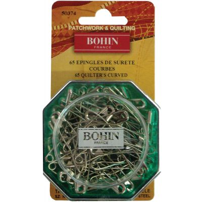 Bohin Curved Safety Pins Size 2 65/Pkg - 50374