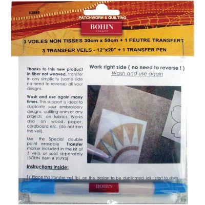 Bohin Transfer Veil & Pen Set  - 62595