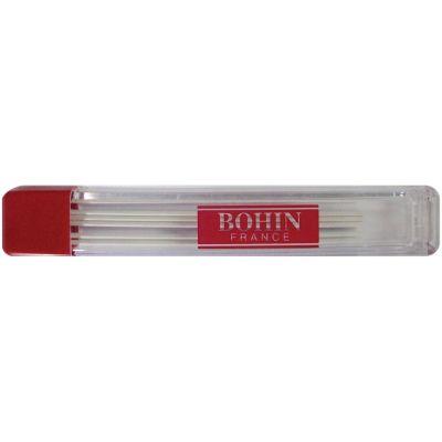 Bohin Mechanical Chalk Pencil Refill 6/Pkg White - 914R-91478